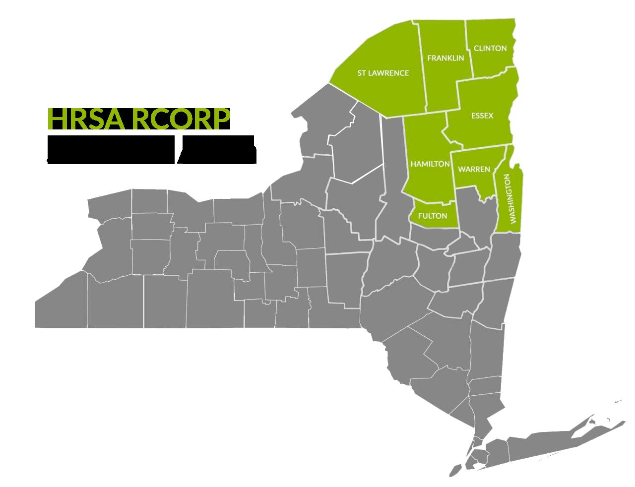HRSA RCORP Service Area