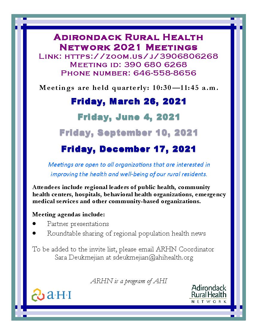 Adirondack Rural Health Network   AHI